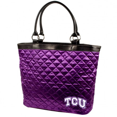 Texas Christian Horned Frogs Quilted Tote Bag