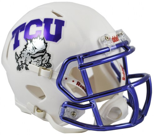 Texas Christian Horned Frogs Riddell Speed Mini Collectible Chrome Football Helmet