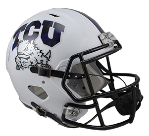 Texas Christian Horned Frogs Riddell Speed Collectible Frog Skin Football Helmet