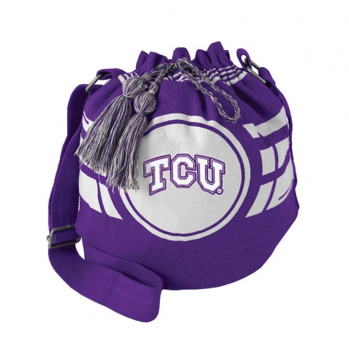 Texas Christian Horned Frogs Ripple Drawstring Bucket Bag