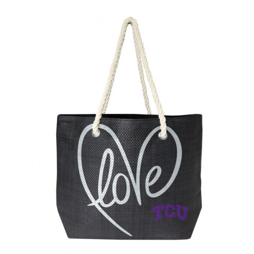 Texas Christian Horned Frogs Rope Tote