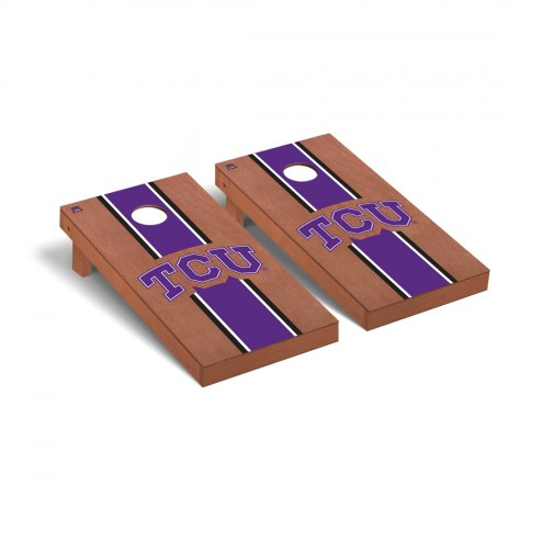 Texas Christian Horned Frogs Rosewood Stained Cornhole Game Set