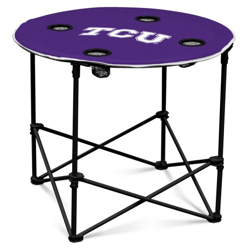 Texas Christian Horned Frogs Round Folding Table