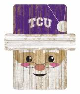 Texas Christian Horned Frogs Santa Ornament