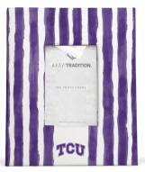 Texas Christian Horned Frogs School Stripes Picture Frame