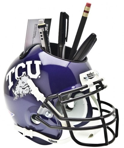 Texas Christian Horned Frogs Schutt Football Helmet Desk Caddy