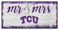 Texas Christian Horned Frogs Script Mr. & Mrs. Sign