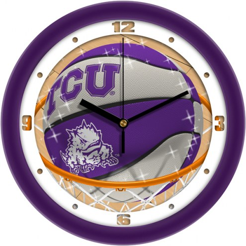 Texas Christian Horned Frogs Slam Dunk Wall Clock