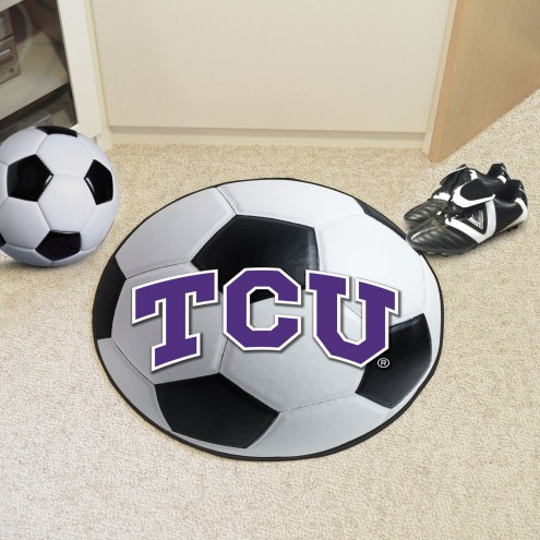 Texas Christian Horned Frogs Soccer Ball Mat