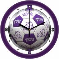 Texas Christian Horned Frogs Soccer Wall Clock