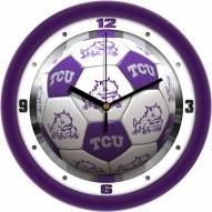 Texas Christian Horned Frogs Soccer Wall Clock