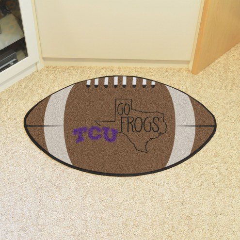 Texas Christian Horned Frogs Southern Style Football Floor Mat