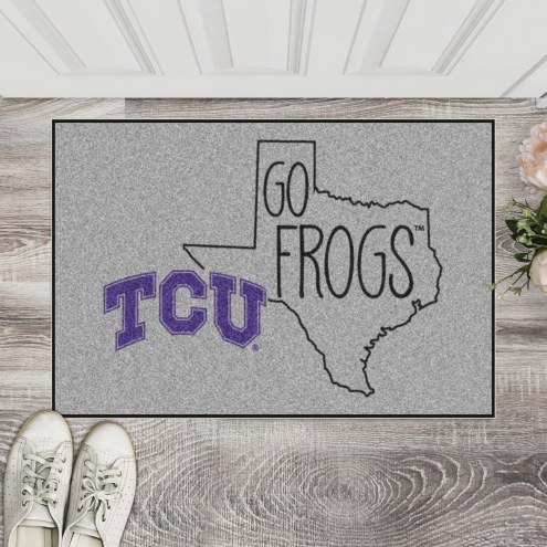 Texas Christian Horned Frogs Southern Style Starter Rug