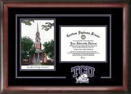 Texas Christian Horned Frogs Spirit Diploma Frame with Campus Image