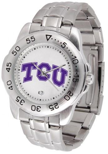 Texas Christian Horned Frogs Sport Steel Men's Watch