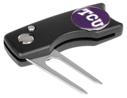 Texas Christian Horned Frogs Spring Action Golf Divot Tool