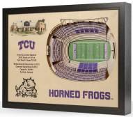 Texas Christian Horned Frogs 25-Layer StadiumViews 3D Wall Art