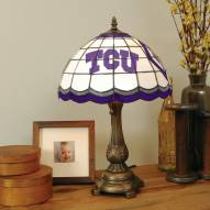 Texas Christian Horned Frogs Stained Glass Tiffany Table Lamp