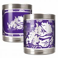 Texas Christian Horned Frogs Stainless Steel Hi-Def Coozie Set