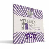 Texas Christian Horned Frogs State Canvas Print
