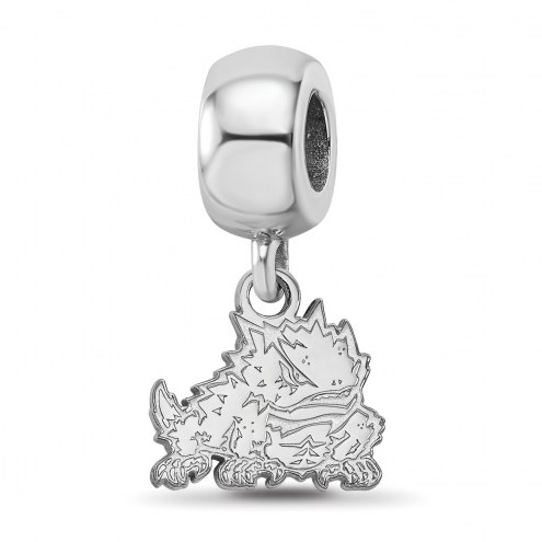 Texas Christian Horned Frogs Sterling Silver Extra Small Bead Charm