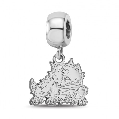 Texas Christian Horned Frogs Sterling Silver Small Dangle Bead