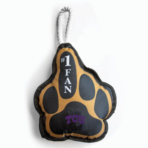 Texas Christian Horned Frogs Super Fan Dog Toy