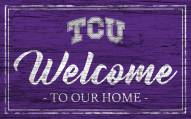 Texas Christian Horned Frogs Team Color Welcome Sign