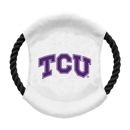 Texas Christian Horned Frogs Team Frisbee Dog Toy