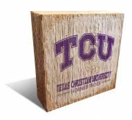 Texas Christian Horned Frogs Team Logo Block