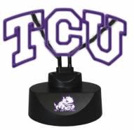 Texas Christian Horned Frogs Team Logo Neon Lamp