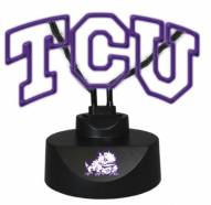 Texas Christian Horned Frogs Team Logo Neon Lamp