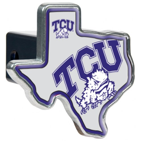 Texas Christian Horned Frogs Texas Shaped Trailer Hitch Cover