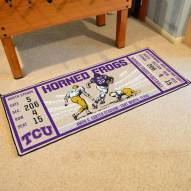 Texas Christian Horned Frogs Ticket Runner Rug