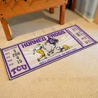 Texas Christian Horned Frogs Ticket Runner Rug