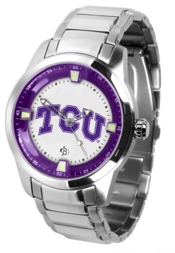 Texas Christian Horned Frogs Titan Steel Men's Watch