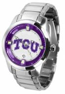 Texas Christian Horned Frogs Titan Steel Men's Watch
