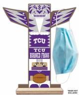 Texas Christian Horned Frogs Totem Mask Holder