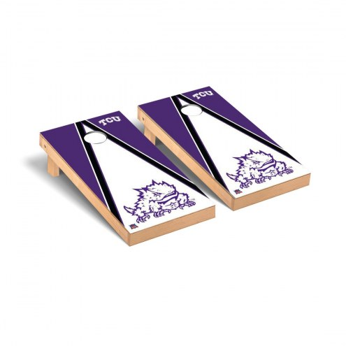 Texas Christian Horned Frogs Triangle Cornhole Game Set