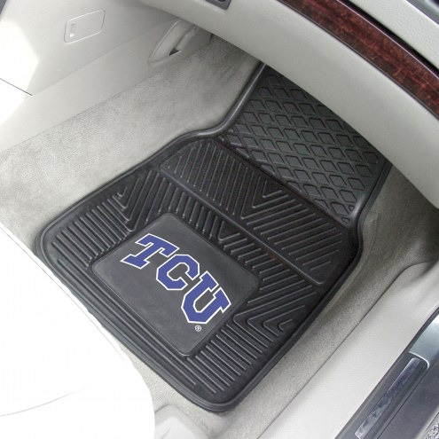 Texas Christian Horned Frogs Vinyl 2-Piece Car Floor Mats