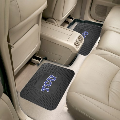 Texas Christian Horned Frogs Vinyl 2-Piece Rear Floor Mats
