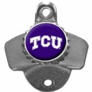 Texas Christian Horned Frogs Wall Mounted Bottle Opener