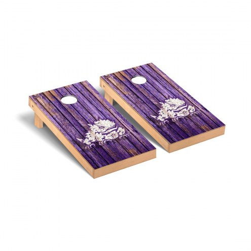Texas Christian Horned Frogs Weathered Cornhole Game Set