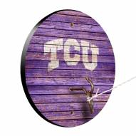 Texas Christian Horned Frogs Weathered Design Hook & Ring Game