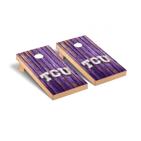 Texas Christian Horned Frogs Weathered II Cornhole Game Set