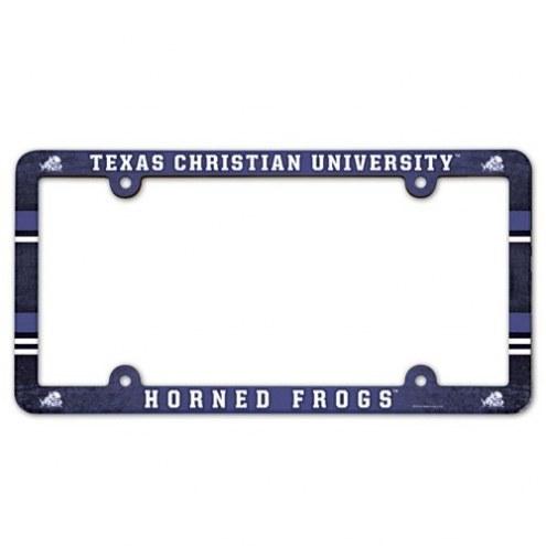 Texas Christian Horned Frogs License Plate Frame