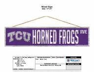 Texas Christian Horned Frogs Wood Avenue Sign