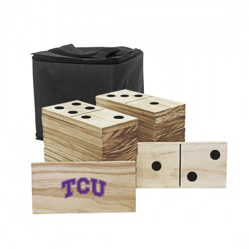 Texas Christian Horned Frogs Yard Dominoes