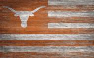 "Texas Longhorns 11"" x 19"" Distressed Flag Sign"