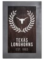 "Texas Longhorns 11"" x 19"" Laurel Wreath Framed Sign"